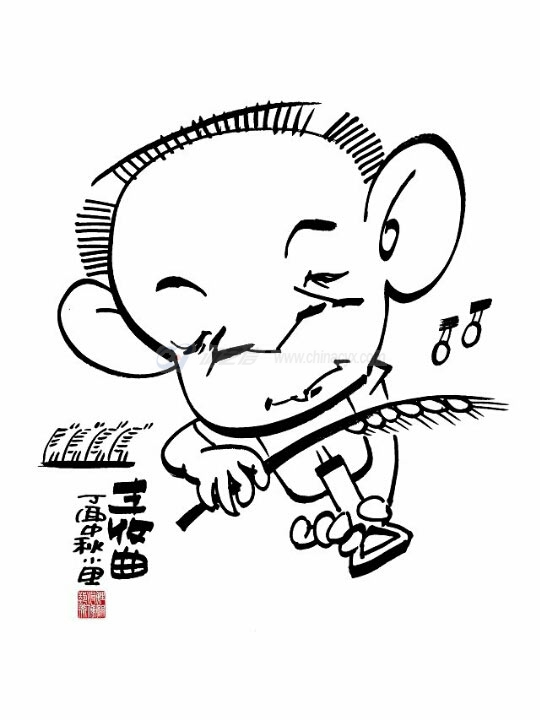 袁隆平1(李坤画).jpg
